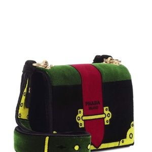 f4cd3ea6391a Prada Bags - PRADA Velvet  Cartoon  Shoulder Bag